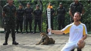 Рио-2016 в ходе эстафеты олимпийского огня застрелена самка ягуара