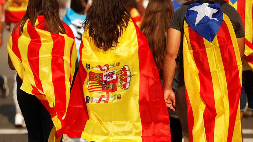 Сотни тысяч граждан выступили за единство Испании