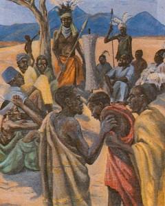 Народные картины Африки в интерьере