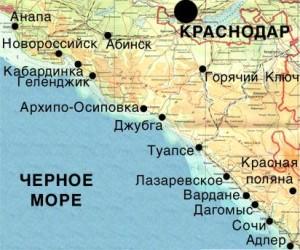Черное море карта