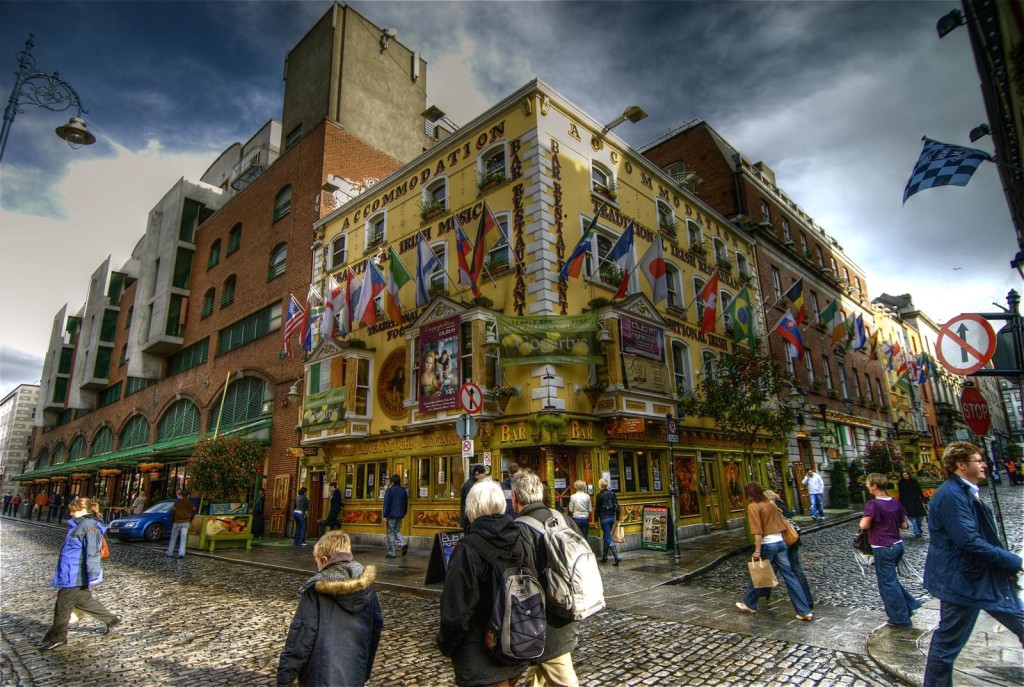 Район Temple Bar в Дублине