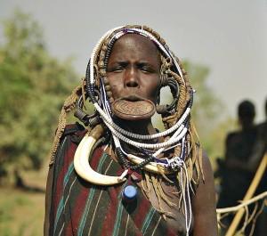 Мода африканского племени Мурси