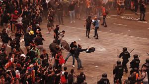 В результате протестов в Испании пострадали не менее 37 человек