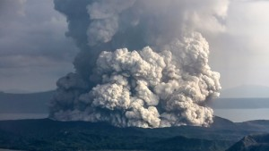 Последствия извержения вулкана на Филиппинах